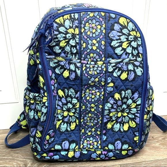 Vera Bradley Blue Floral Indigo Pop Backpack